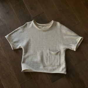 Current Elliott short sleeve sweatshirt w/pocket